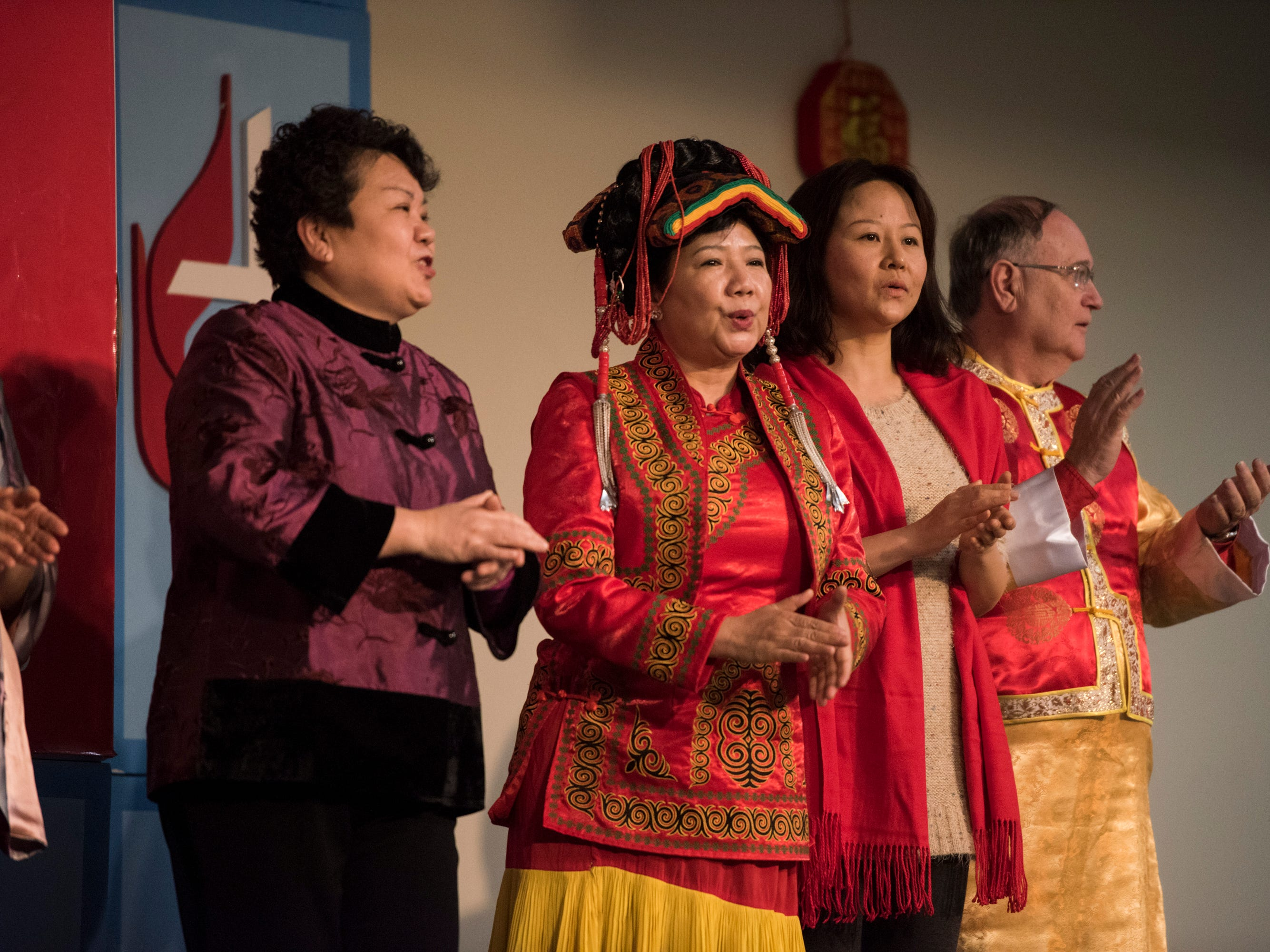 The Christian fellowship performs during the Central Alabama Association of Chinese 2019 Montgomery Chinese New Year festsival at Frazer Church in Montgomery, Ala., on Saturday, Feb. 9, 2019.