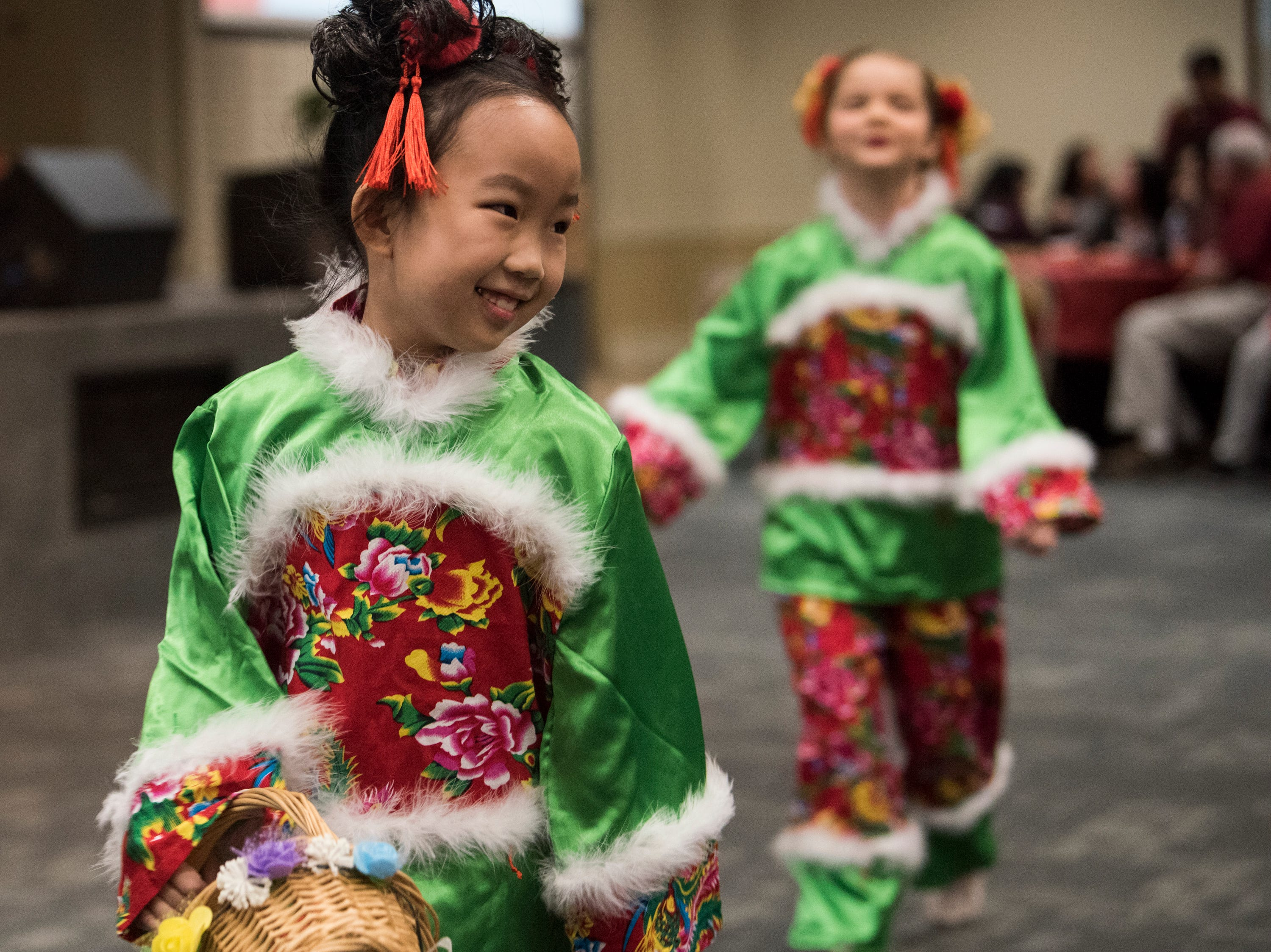 The Mushroom girls perform during the Central Alabama Association of Chinese 2019 Montgomery Chinese New Year festsival at Frazer Church in Montgomery, Ala., on Saturday, Feb. 9, 2019.
