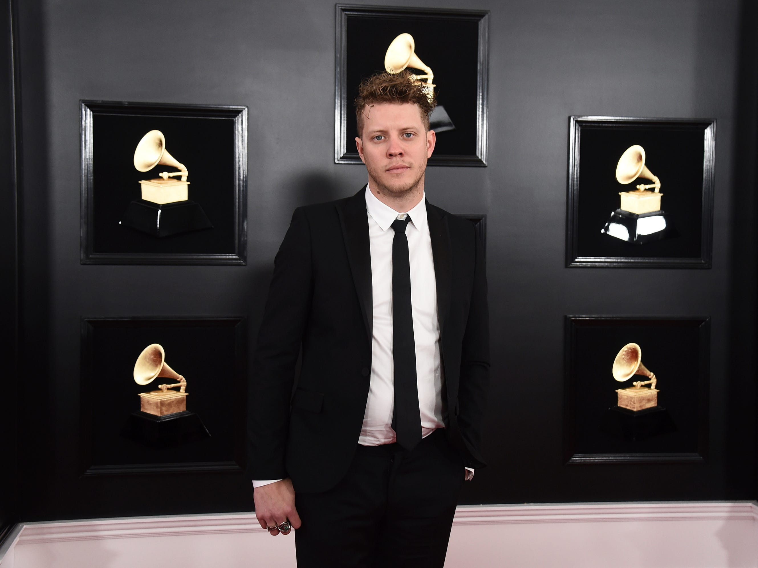 Anderson East arrives at the 61st annual Grammy Awards at the Staples Center on Sunday, Feb. 10, 2019, in Los Angeles.
