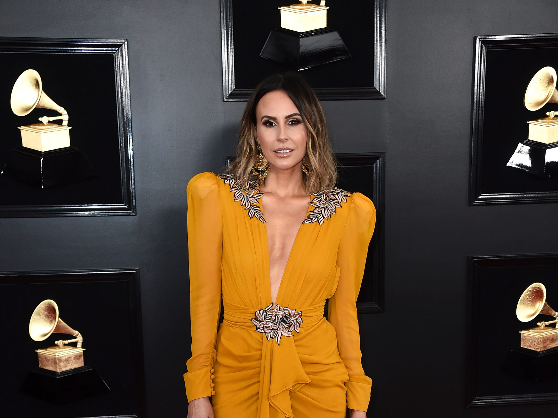 Keltie Knight arrives at the 61st annual Grammy Awards at the Staples Center on Sunday, Feb. 10, 2019, in Los Angeles.