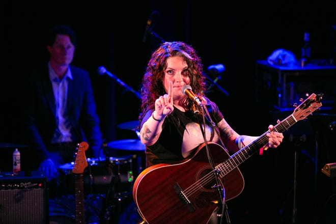 Ashley McBryde performed during John Prine's all-star tribute at the Troubadour in Hollywood Saturday night.