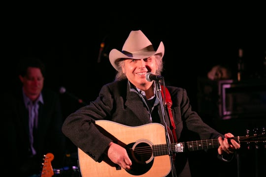 Dwight Yoakam performed during John Prine's all-star tribute at the Troubadour in Hollywood Saturday night.