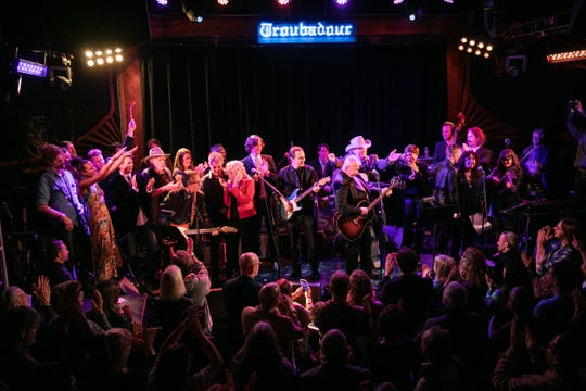 John Prine was honored with an all-star tribute by the Americana Music Association at the Troubadour in Hollywood Saturday night.