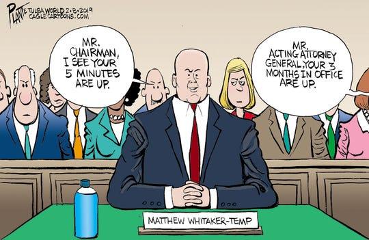AG Matthew Whitaker at hearing.