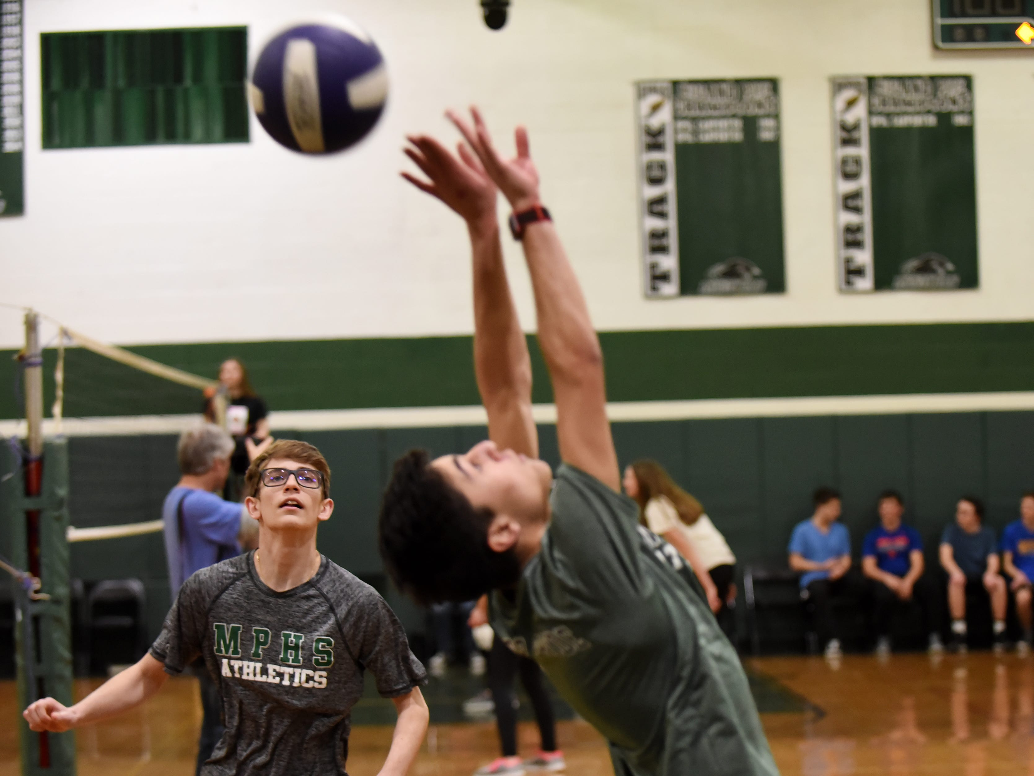 A Fundraising Volleyball Tournament is heald at Midland Park High School in Midland Park on Saturday February 9, 2019. The event is to raise money for the families of two young people seriously injured in an auto accident in December.