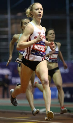 Alicia Monson is shown at a race earlier this year.
