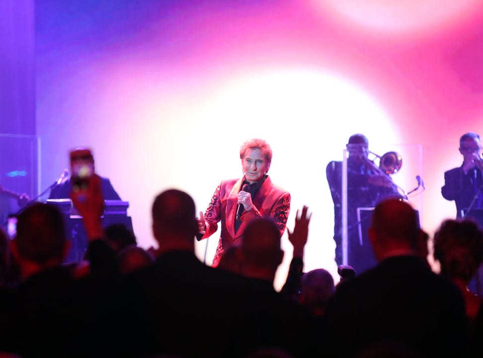 02/09/19 Taya Gray, Special to The Desert SunBarry Manilow performs during the 25th Annual Steve Chase Humanitarian Awards at the Palm Springs Convention Center on Saturday, February 9, 2019.