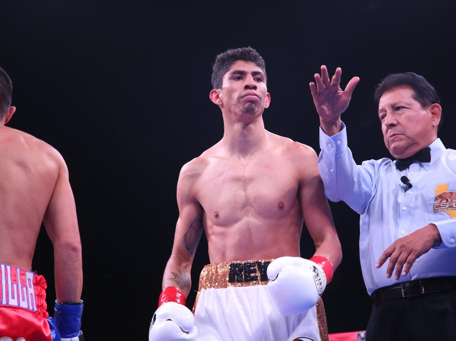 Boxing action at Fantasy Springs Casino on February 9, 2019.