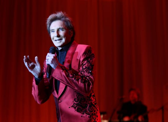 Pop music icon Barry Manilow performs Saturday at the 25th Annual Steve Chase Humanitarian Awards at the Palm Springs Convention Center.