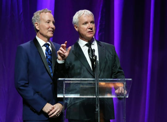 Steve Chase Humanitarian Awards honorees Geoff Kors, left, and James Williamson, recipients of the 2019 Partners for Life Award.
