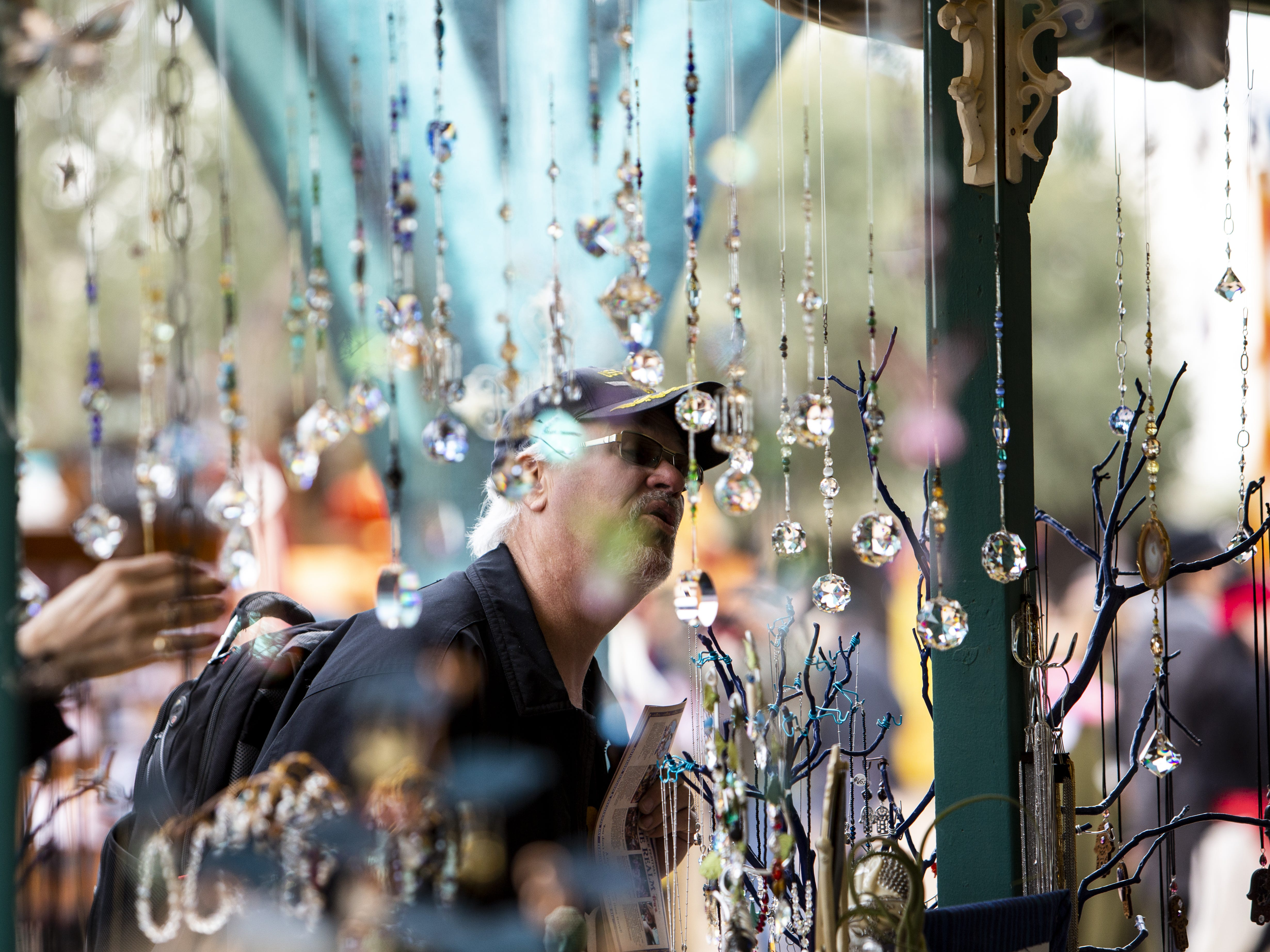 Many stands sold arts and crafts at the Arizona Renaissance Festival 2019 on Feb. 9, 2019 in Gold Canyon, Ariz.