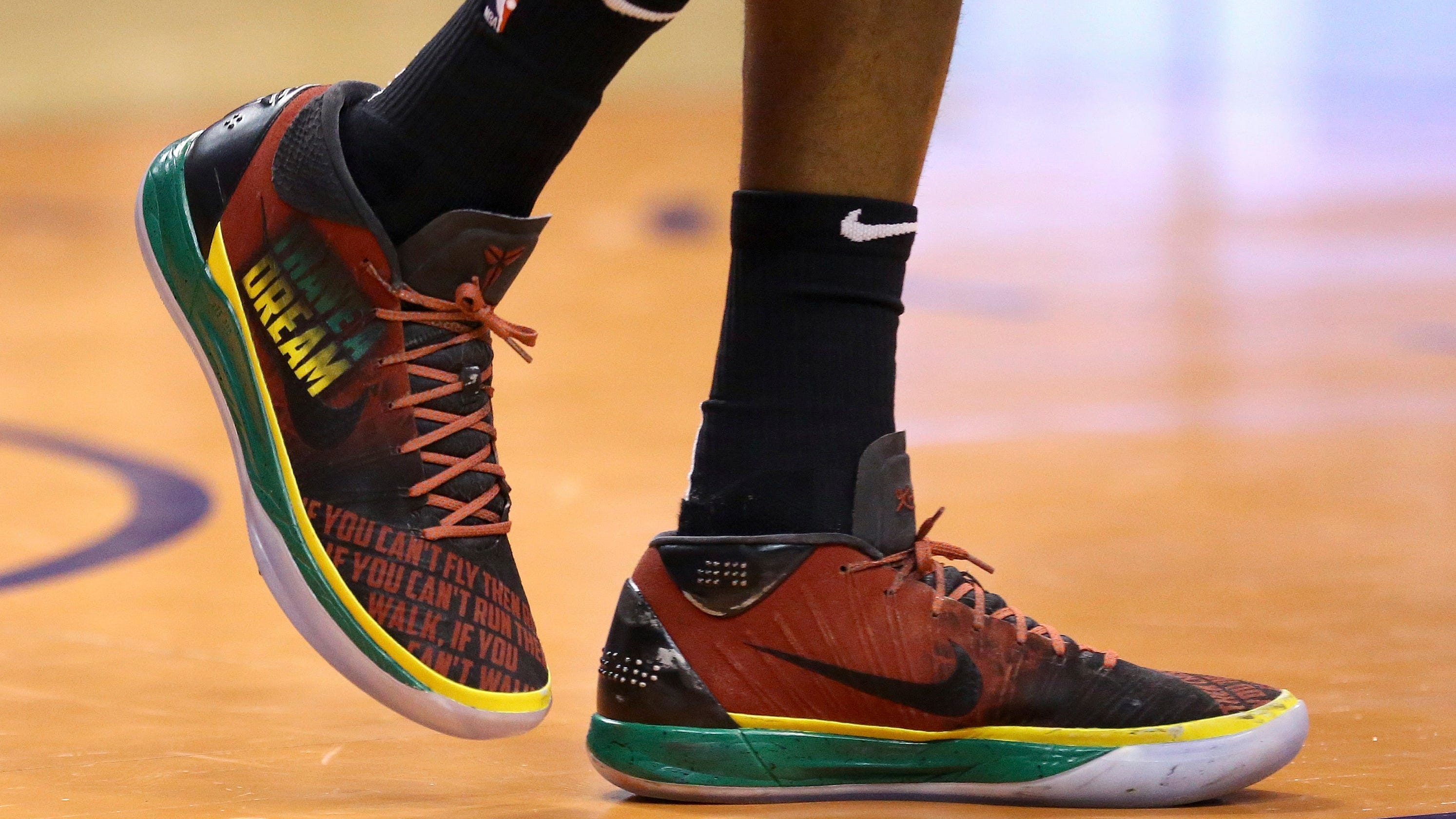 low priced 72708 b6f04 Suns celebrate Black History Month with custom designed shoes featuring  civil rights icons