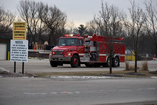Several fire departments responded to a fire at the Smiths Creek Landfill early Sunday.