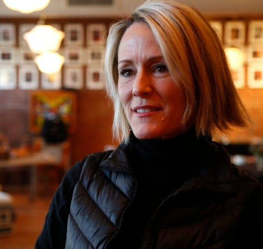 Mary Stuart Masterson before Ghost Stories 3 begins at Ulster Performing Arts Center in Kingston on February 9, 2019.