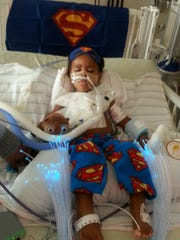Superman garb gave Dontae Jackson strength while he was at Penn State Hershey Children's Hospital for two months beginning in late August 2017.