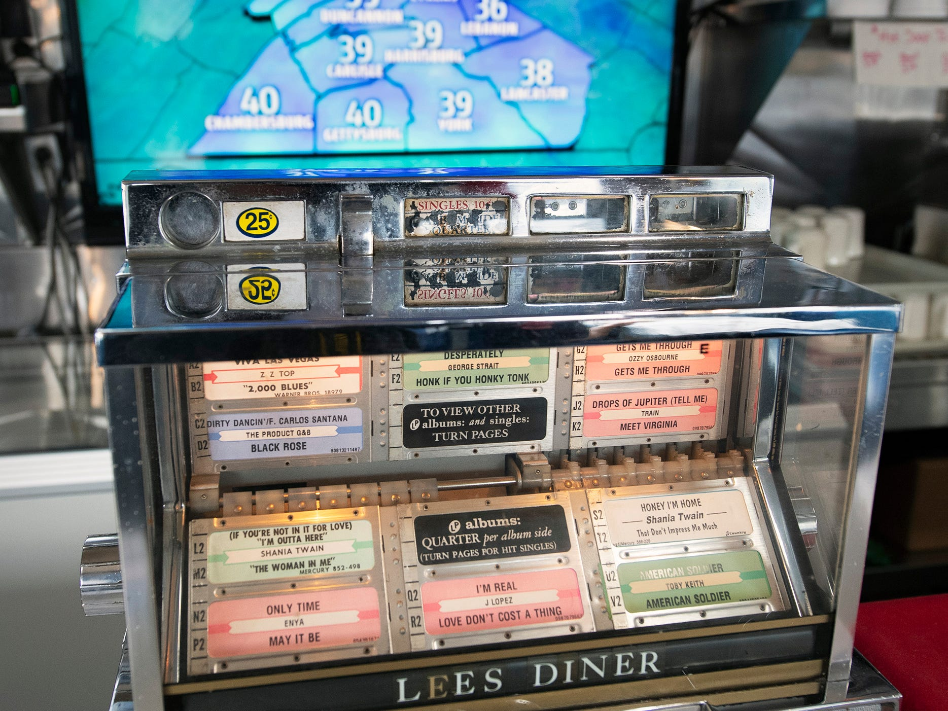 There are new televisions over the front counter, but the familiar juke boxes remain at the former Lee's Diner, now named Vicky's Diner.