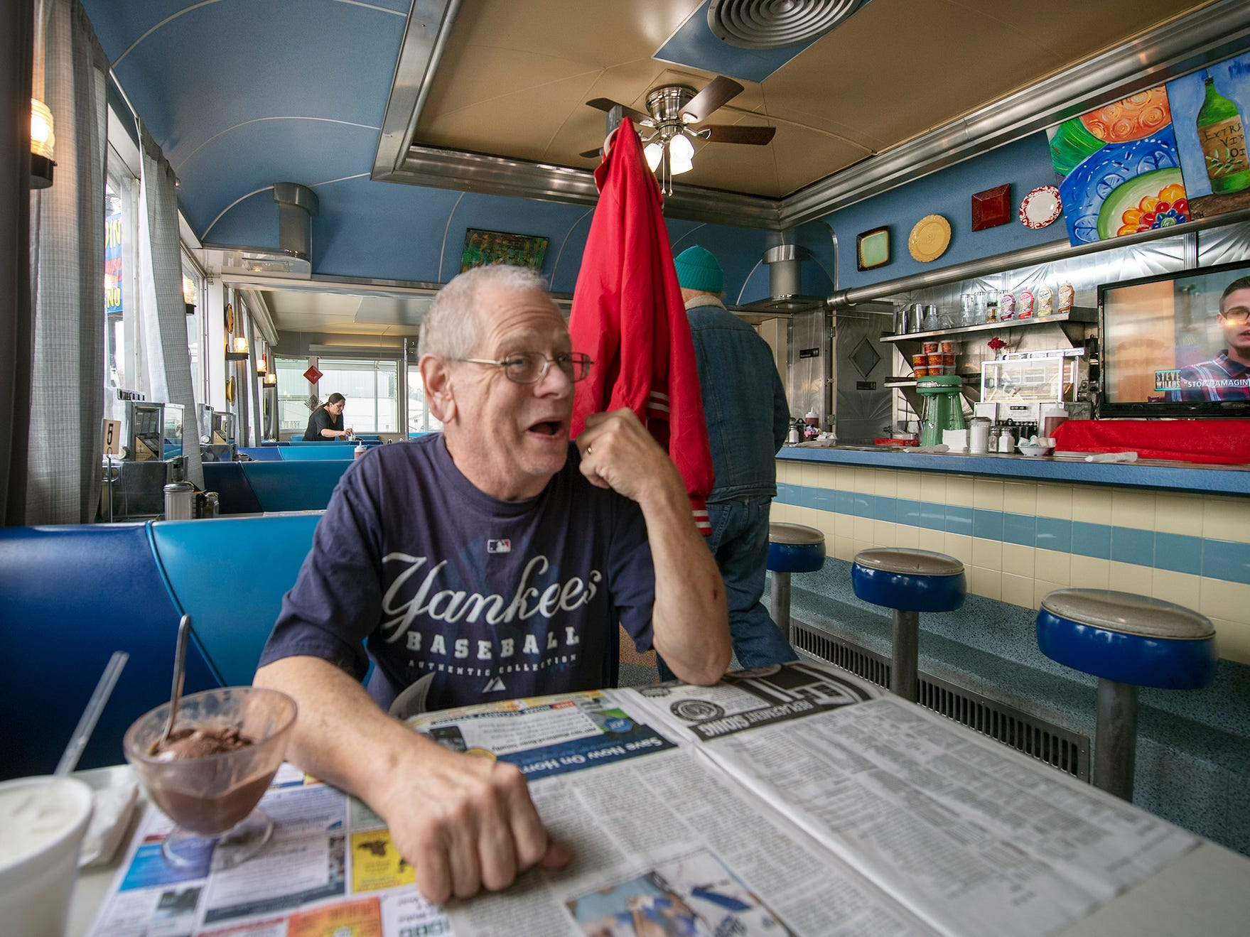 "Dennis ""Cupcake"" Grimes was a regular at Lee's Diner -- now Vicky's Diner -- for 40 years. He said the new menu is great, and seeing new faces as well as familiar ones is something he looks forward to."