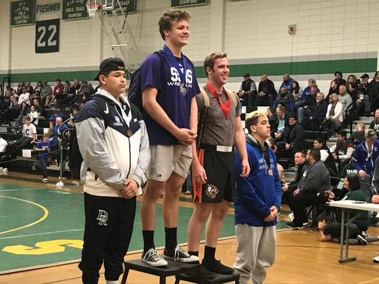 Spanish Springs senior Colby Preston won Region and state wrestling titles at 195 pounds this year.