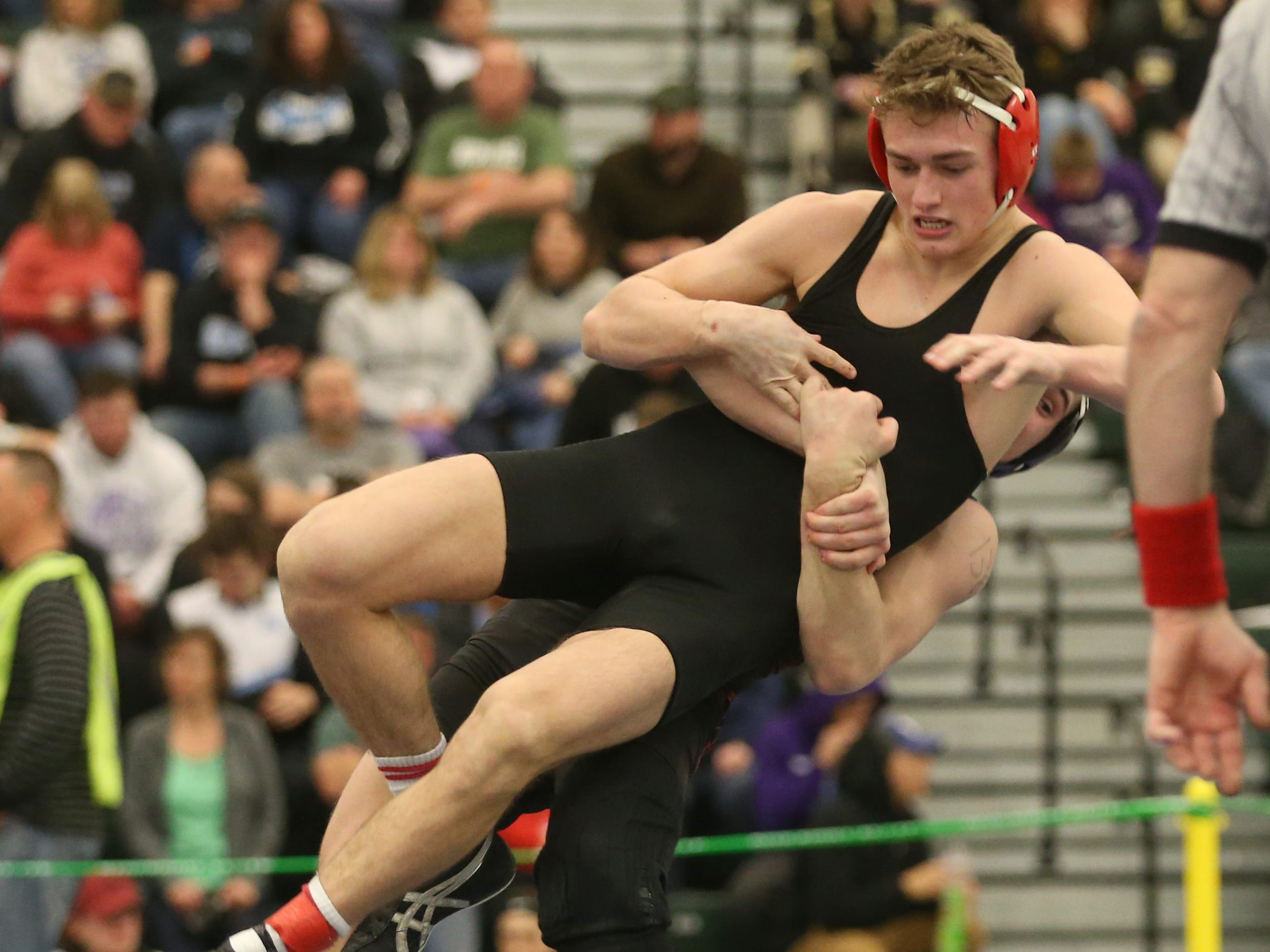 at the 52nd Annual State Wrestling Qualifier at the College at Brockport Saturday, Feb. 9, 2019.
