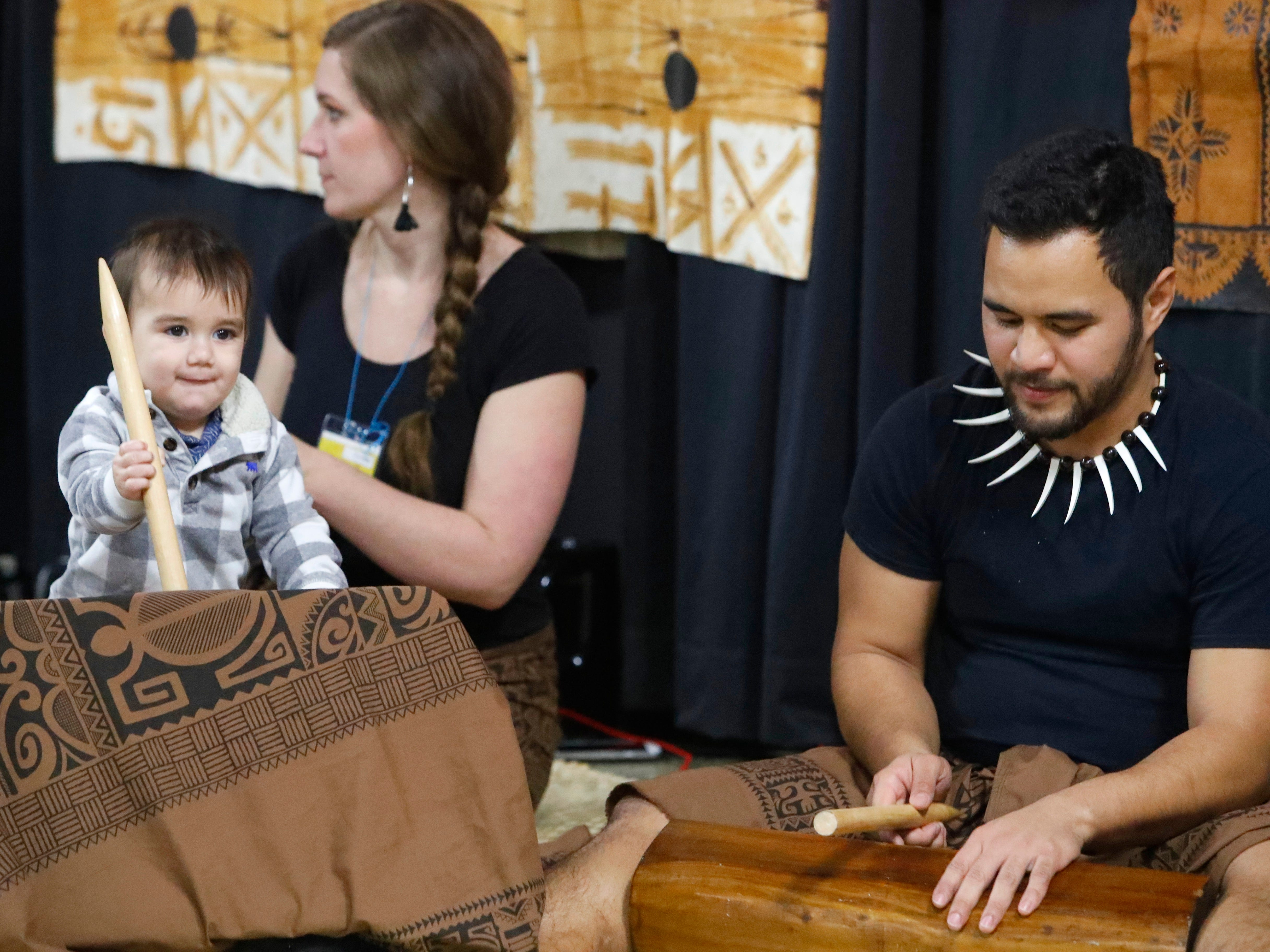 The Pacific Islands display featured drumming during the annual Festival of Cultures in the Redding Civic Auditorium on Feb. 9, 2019.