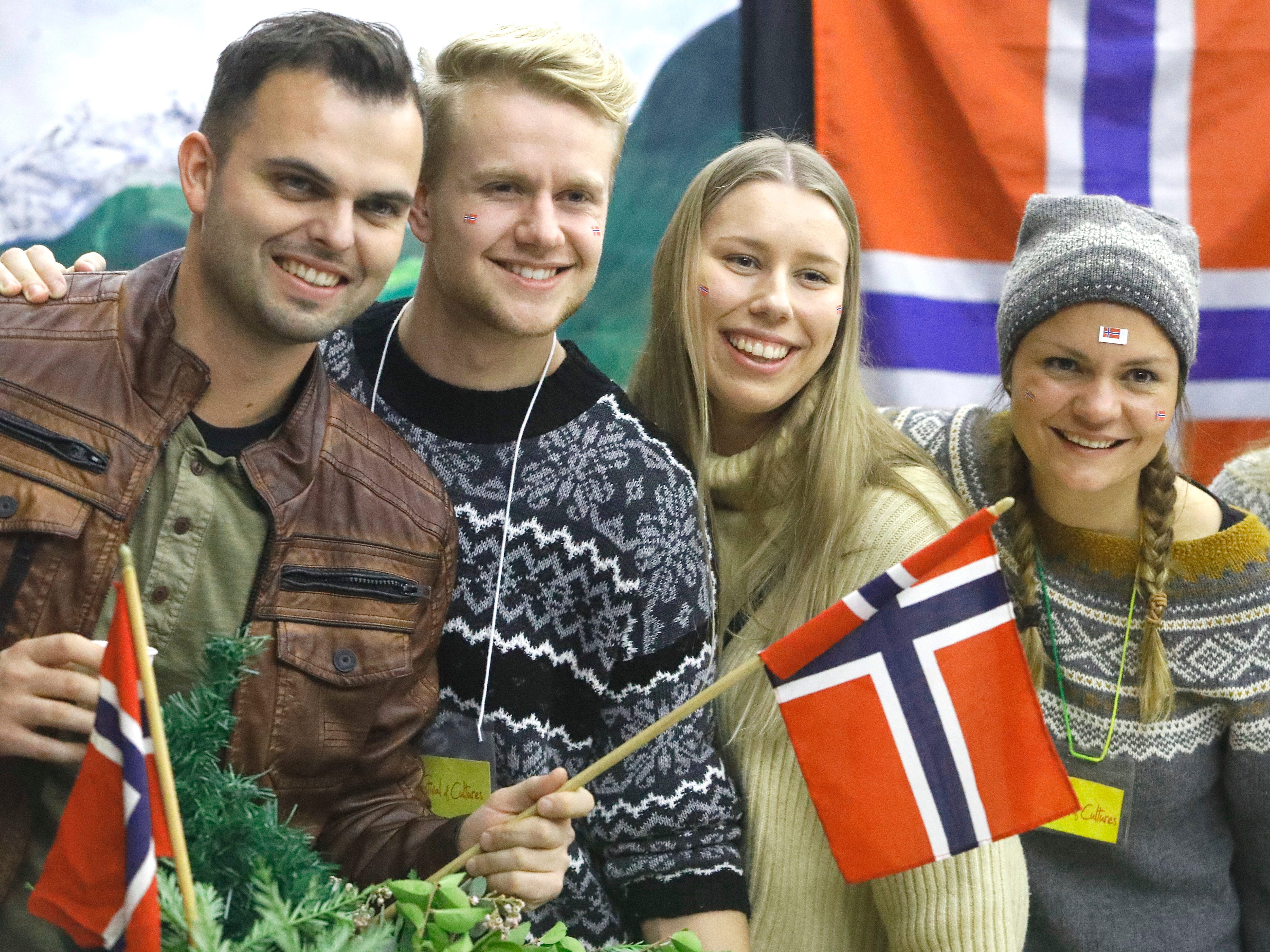 Bethel School of Supernatural Ministry students from Norway pose for a photo during the 10th annual Festival of Cultures on Feb. 9, 2019.