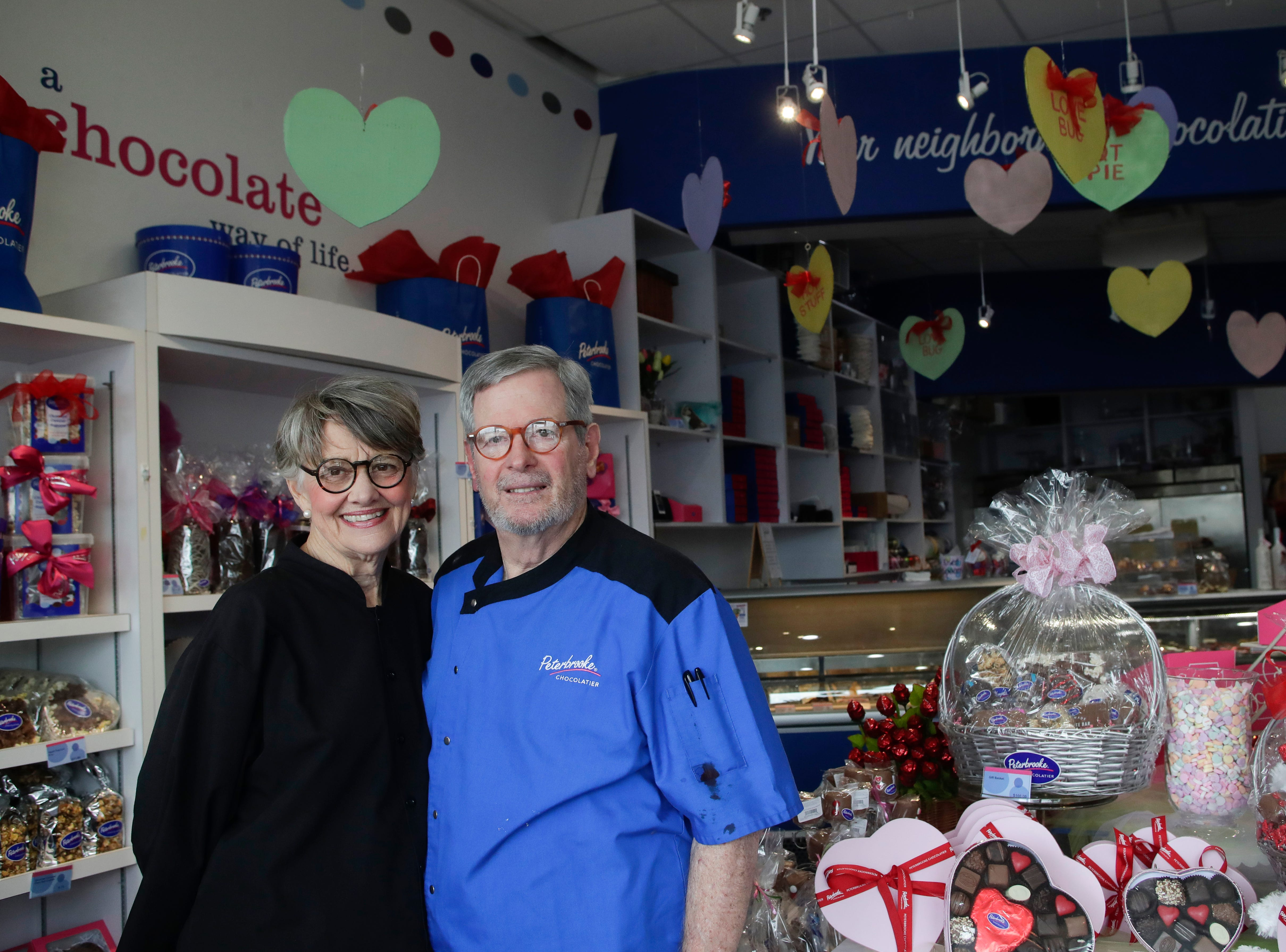 Dot and Richard Herbert, managers of Peterbrooke Chocolatier in Tallahassee, are currently in preparations for their busiest single day of business, Valentine's Day.