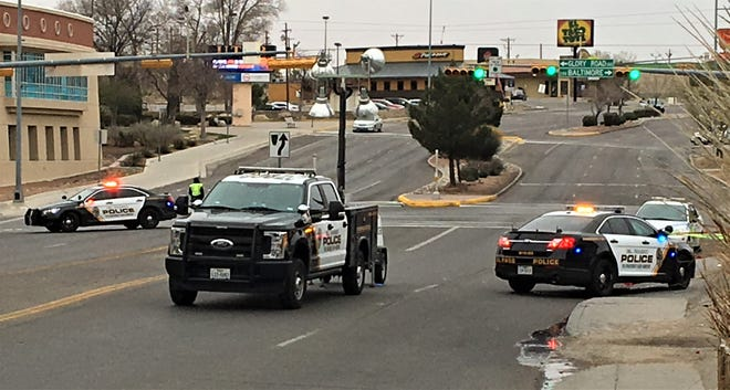 El Paso police block North Mesa Street while investigating a brawl in the Cincinnati Avenue Entertainment District near UTEP.