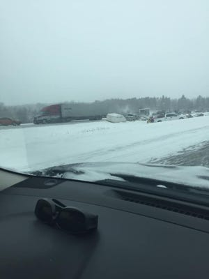 Several crashes clogged U.S. 51 southbound near Brokaw on Sunday afternoon.