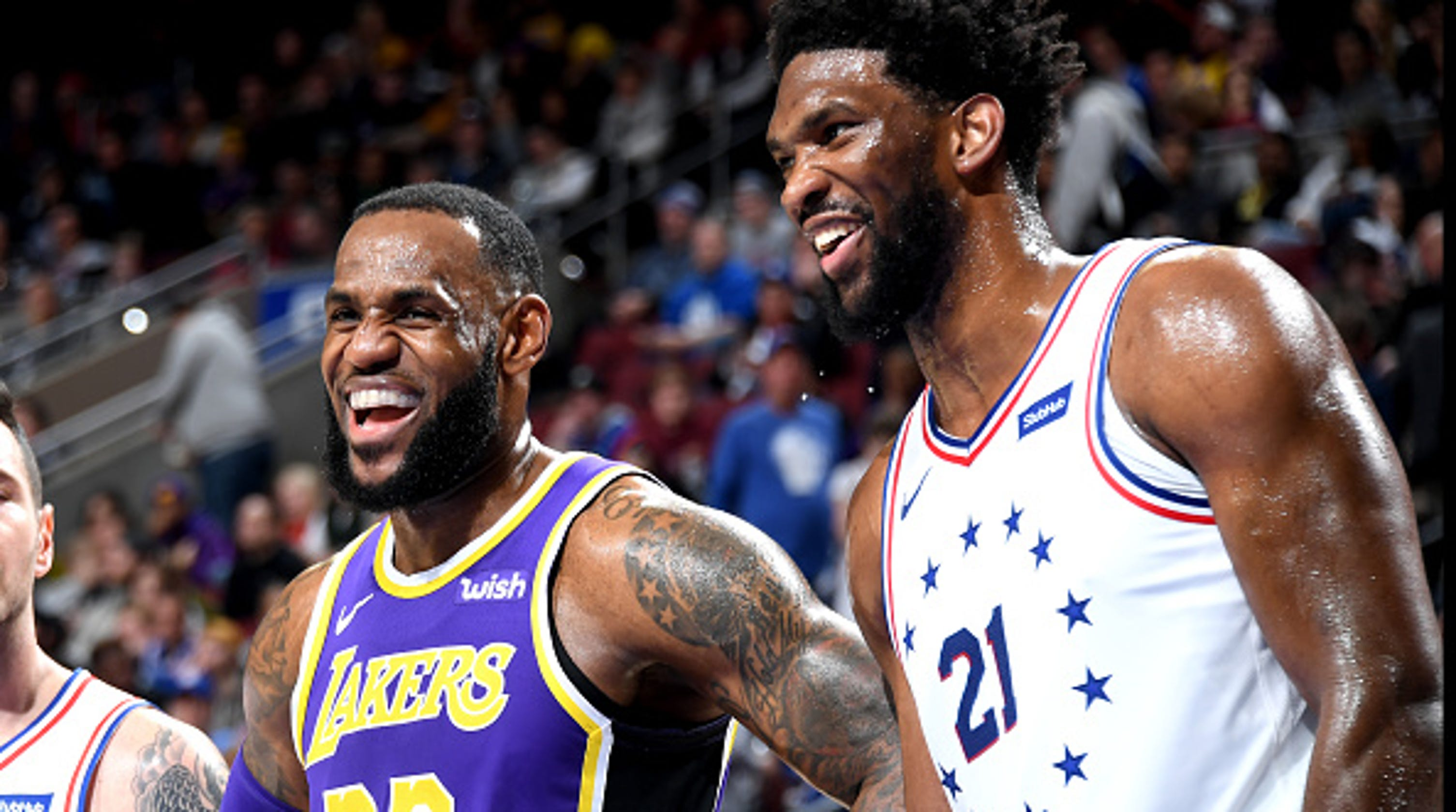 Image result for lebron james joel embiid