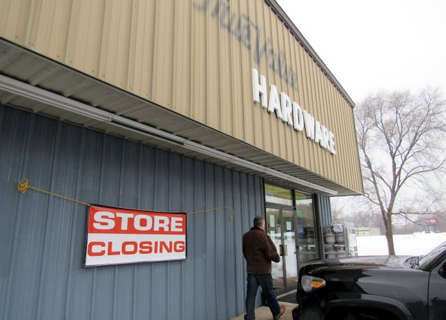 Hardware store closing displays small town retail struggles