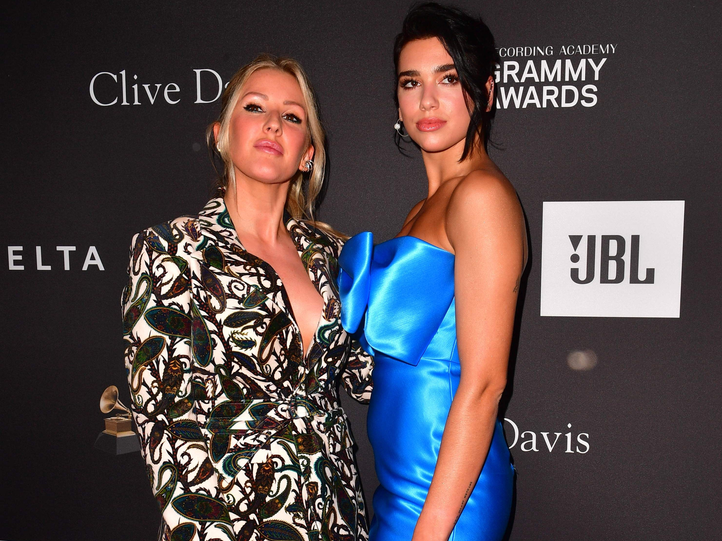 Ellie Goulding and Dua Lipa