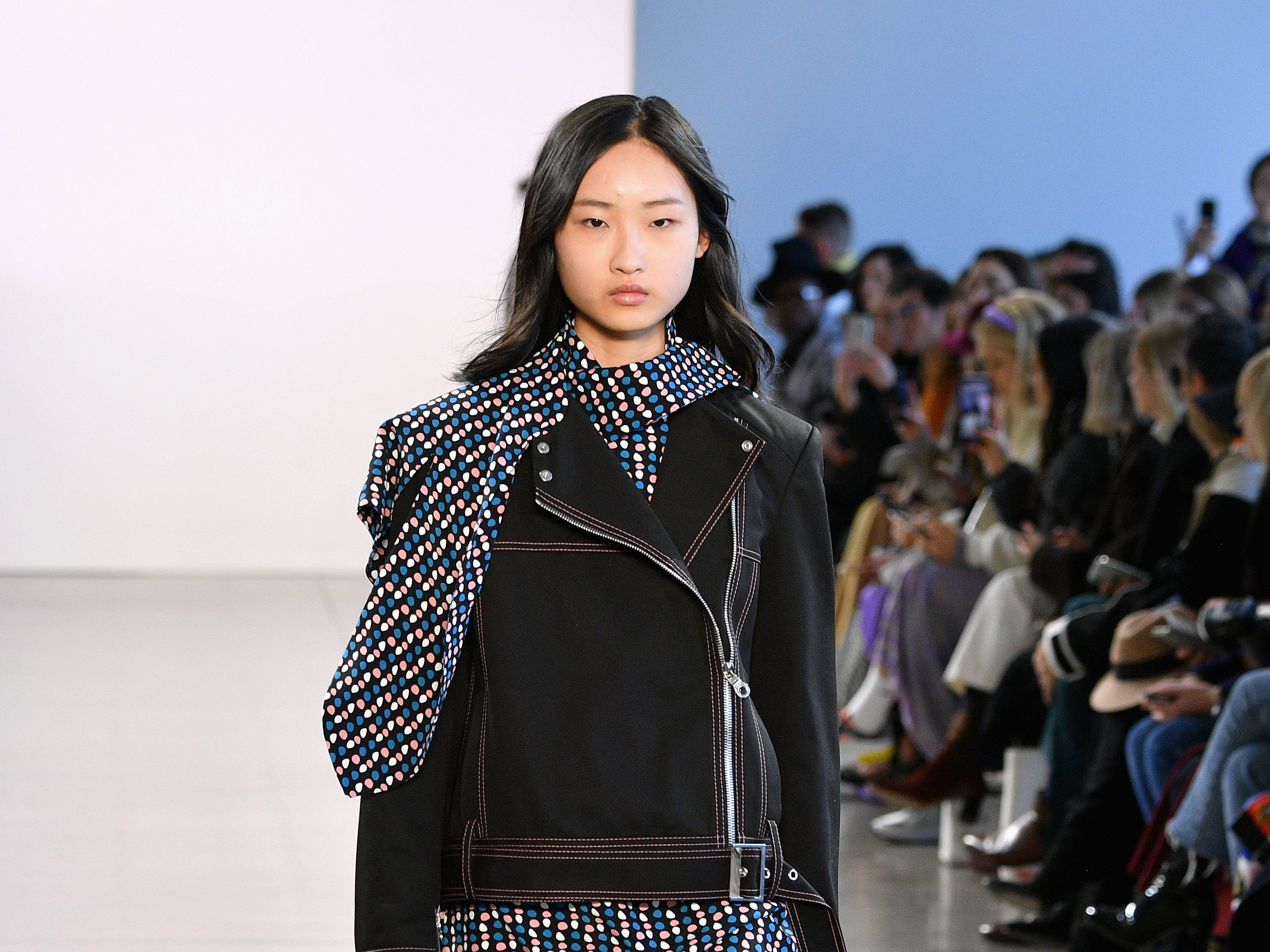 NEW YORK, NY - FEBRUARY 10:  A model walks the runway for the Claudia Li fashion show during New York Fashion Week: The Shows at Gallery II at Spring Studios on February 10, 2019 in New York City.  (Photo by Dia Dipasupil/Getty Images for NYFW: The Shows) ORG XMIT: 775290850 ORIG FILE ID: 1097104788