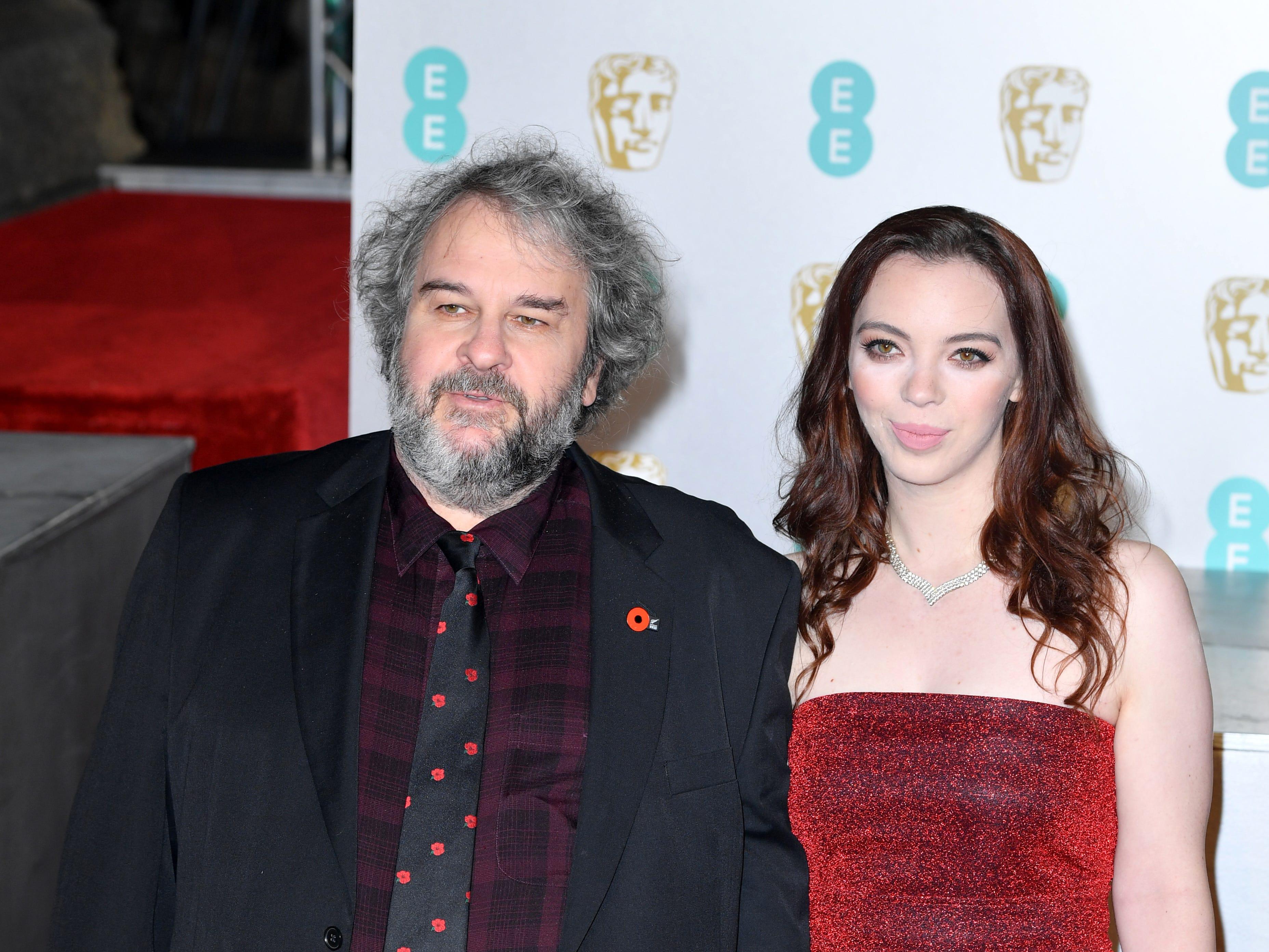 Director Peter Jackson and Katie Jackson