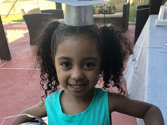 According to Texas health officials, Ashanti Grinage, 4, died of pneumonia caused by flu complications.