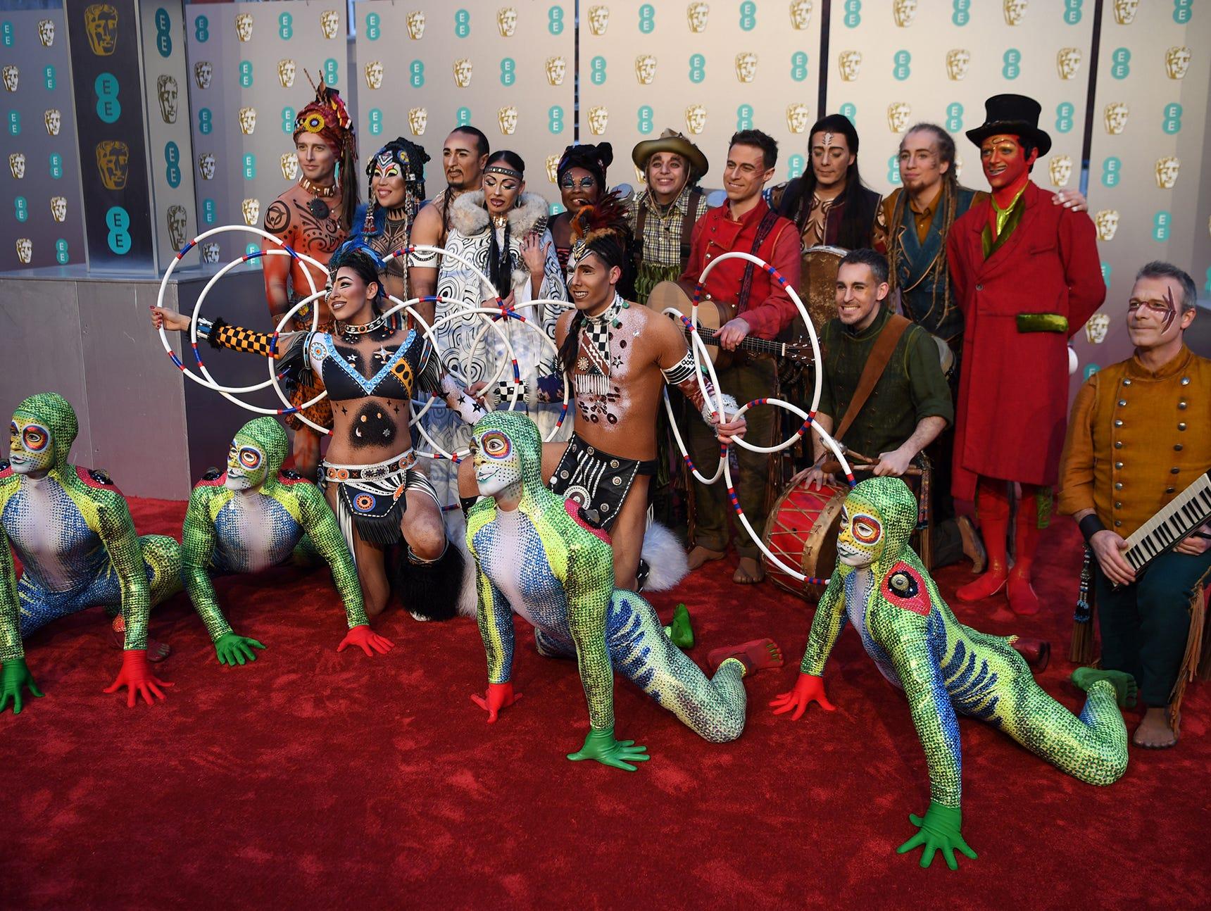 The cast of Cirque du Soleil.