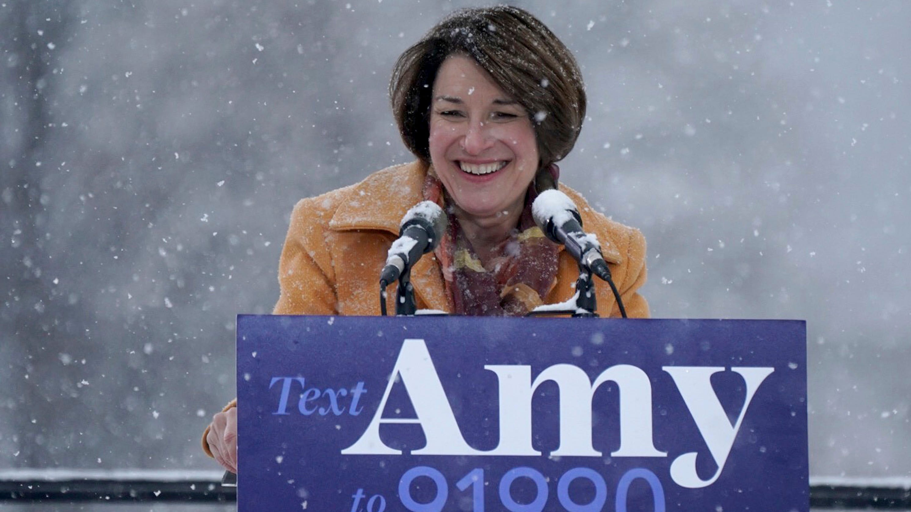 Amy Klobuchar enters 2020 presidential race at chilly ...