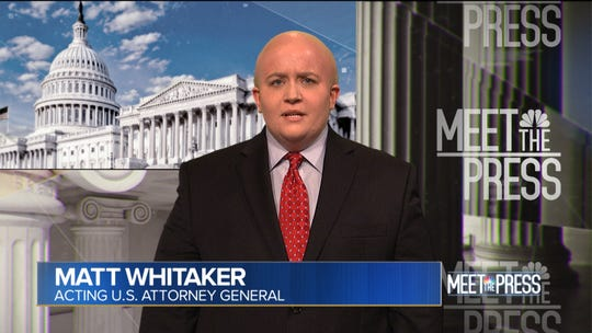 Why should Kate McKinnon have all the fun? Aidy Bryant donned a suit and bald cap to play atcting attorney Matthew Whitaker.
