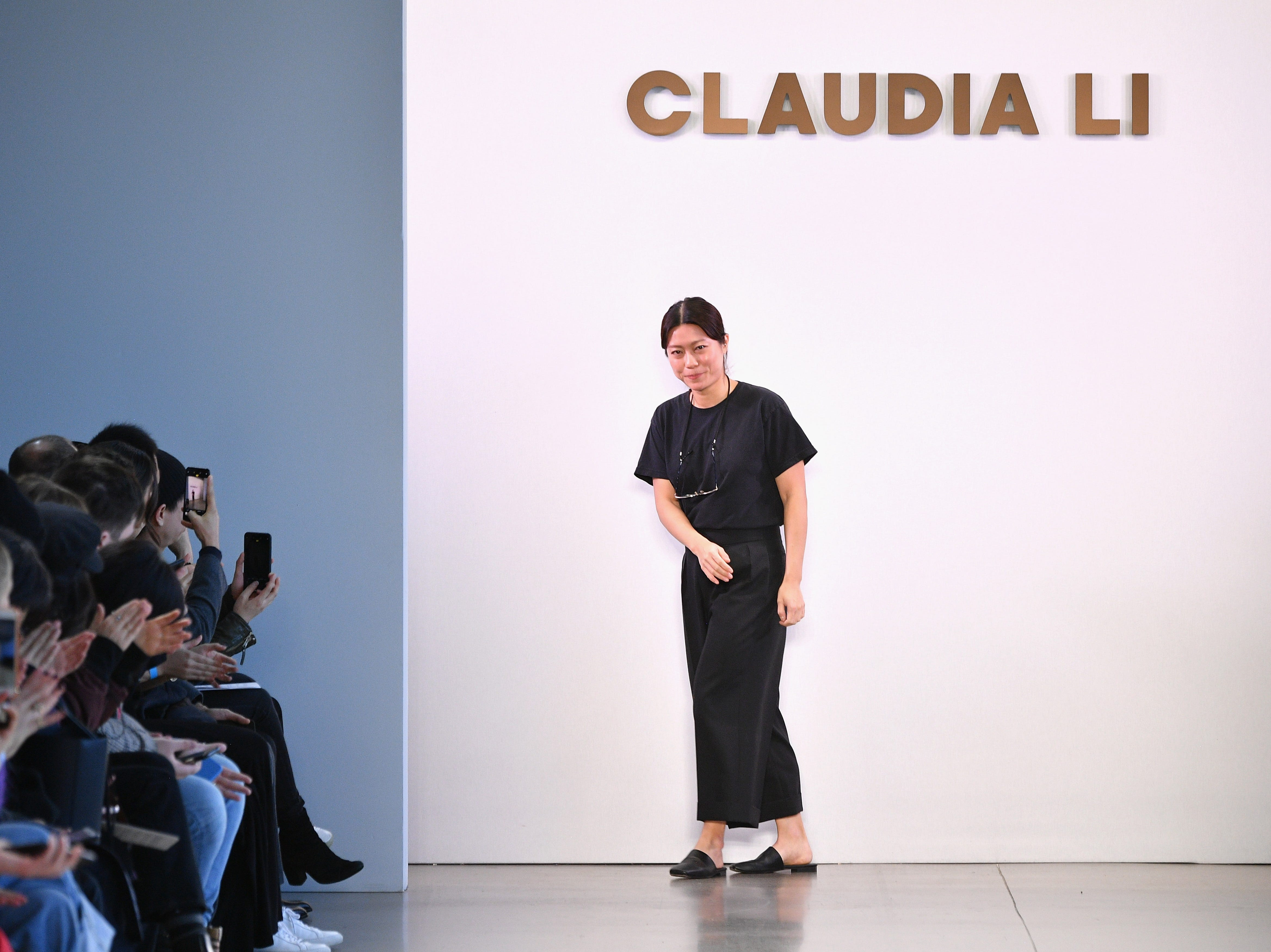 NEW YORK, NY - FEBRUARY 10:  Designer Claudia Li walks the runway for the Claudia Li fashion show during New York Fashion Week: The Shows at Gallery II at Spring Studios on February 10, 2019 in New York City.  (Photo by Dia Dipasupil/Getty Images for NYFW: The Shows) ORG XMIT: 775290850 ORIG FILE ID: 1097104908