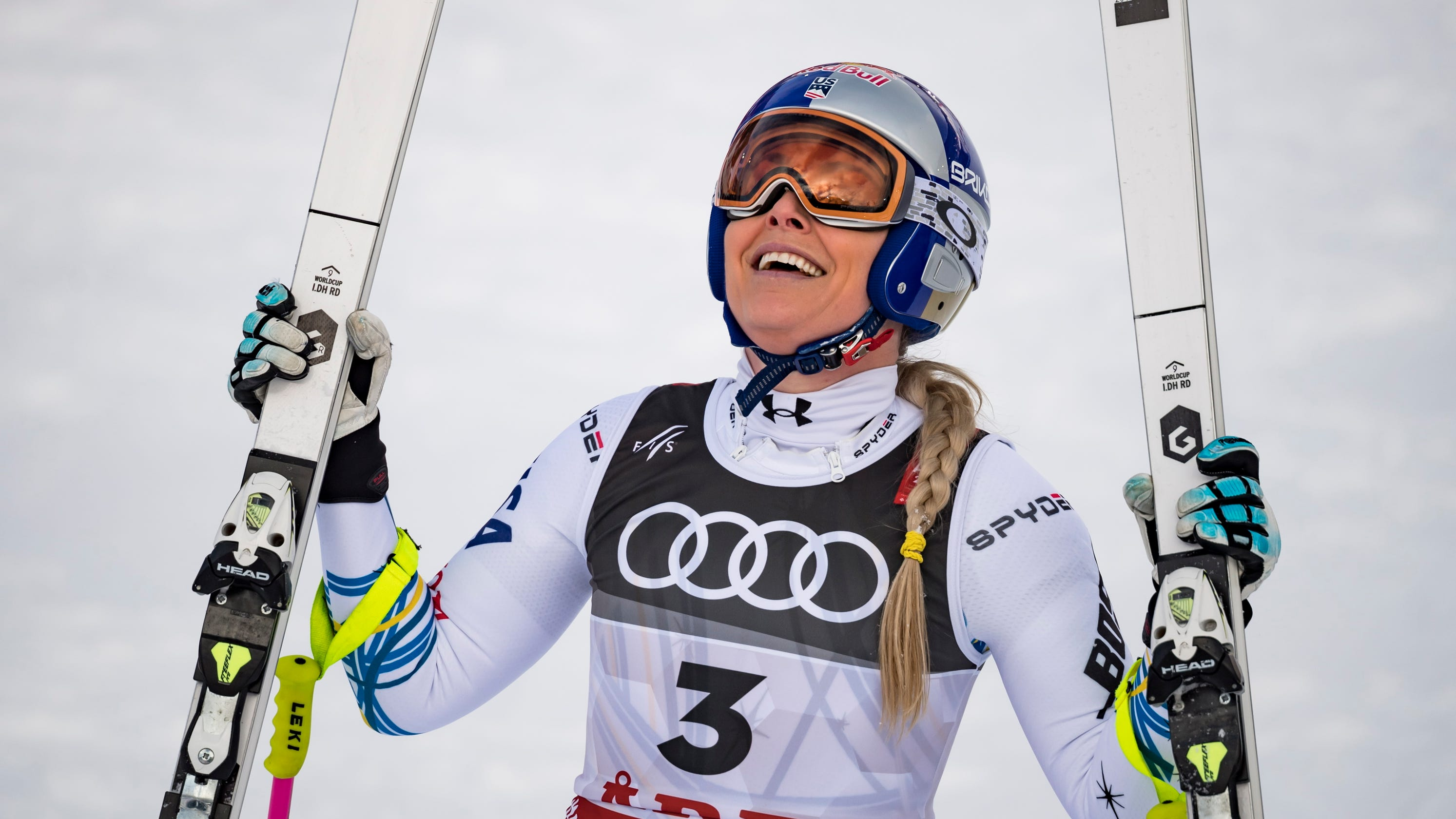 Opinion: Injuries be damned, Lindsey Vonn goes out on her terms - and on the podium