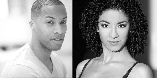 "Will James Jr., left, and Deidrea Halley are married and perform together on the North American tour of ""The Lion King."" The musical is running at the Fox Cities Performing Arts Center through Feb. 24."