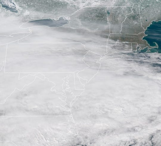 Somewhere underneath those clouds is New Jersey, which is preparing for the arrival of a significant winter storm on Tuesday, Feb. 12, 2019.
