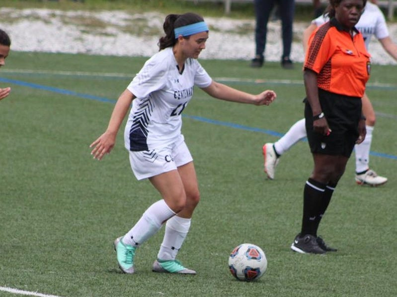 Sam Bombardiere, a Toms River native, playing for Centenary University.
