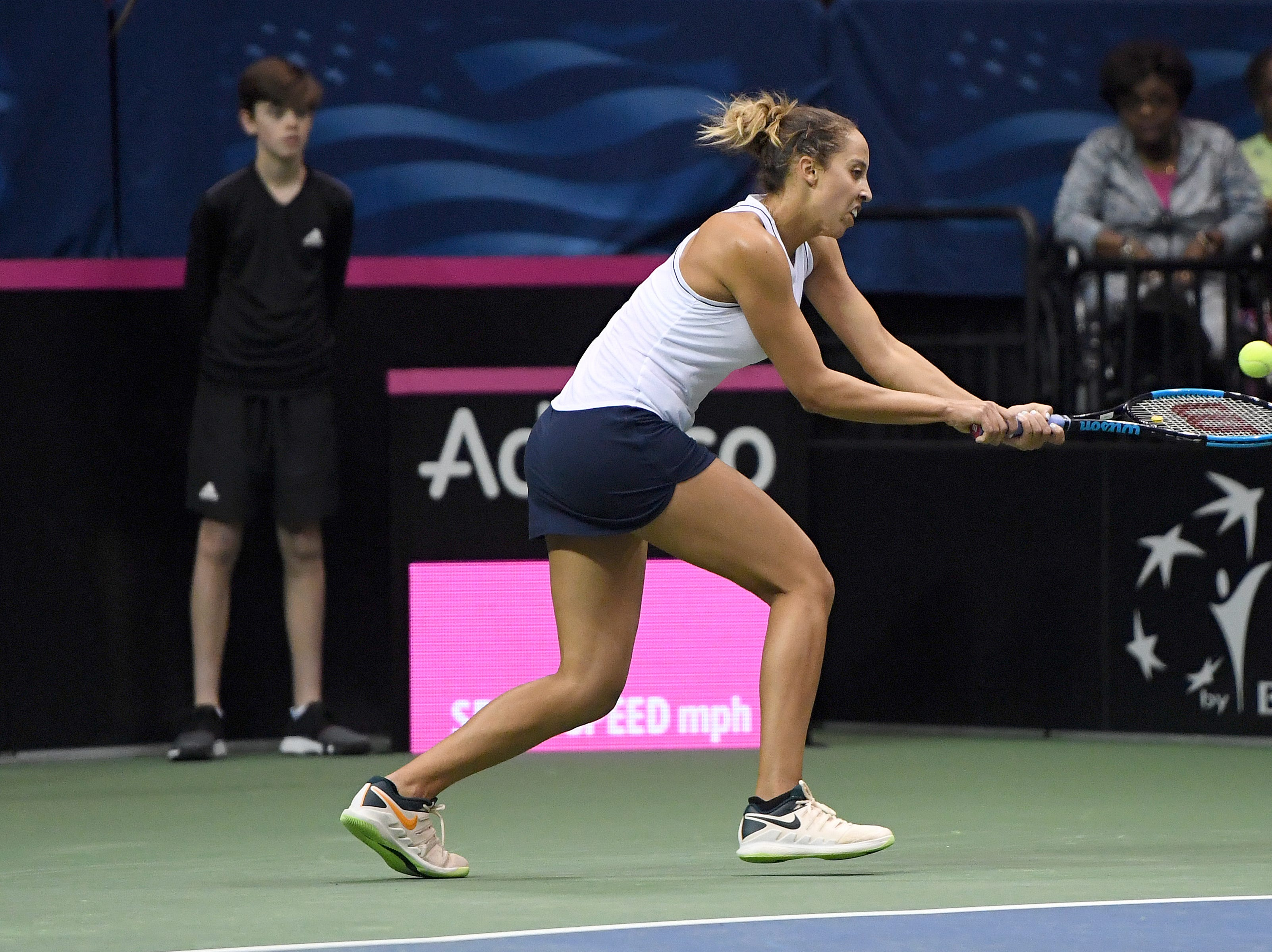 The United States took on Australia in tennis on day two of the first round of the Fed Cup at the U.S. Cellular Center on Feb. 10, 2019.