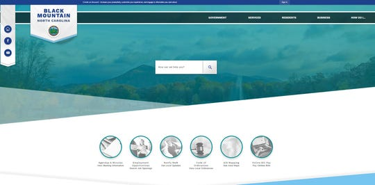 Beginning Feb. 25, Black Mountain residents looking for information related to town services will see this home page when they visit townofblackmountain.org.