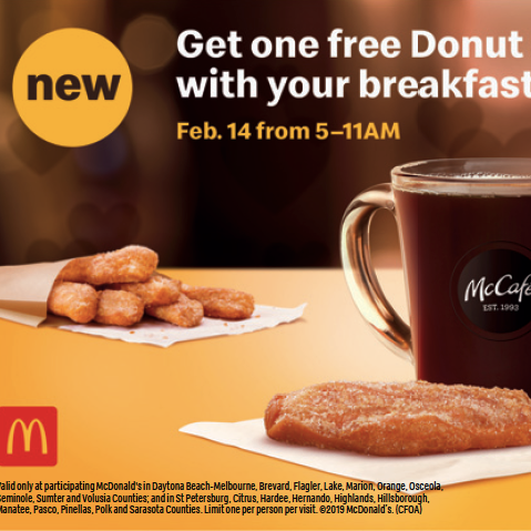 McDonald's offers free Donut Stick on Valentine's Day