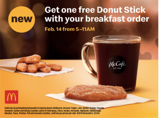 McDonald's introduces a new breakfast item: Donut Sticks