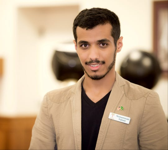 """Mohammad """"Moe"""" Nafadi, a native of Saudi Arabia and Florida Tech junior, is president of the International Student Service Organization, the host group responsible for planning and managing the event."""