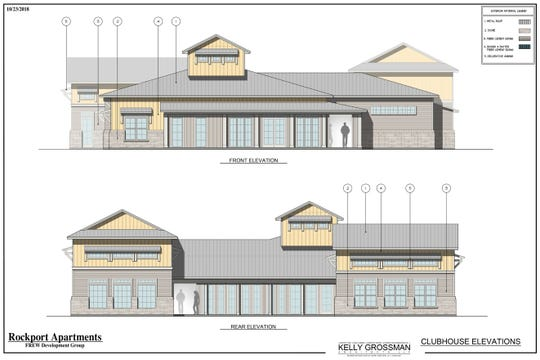 A rendering of the clubhouse that will be part of the new Residences at Pearl Point complex that will be constructed in Rockport, according to a Feb. 11, 2019 news release.