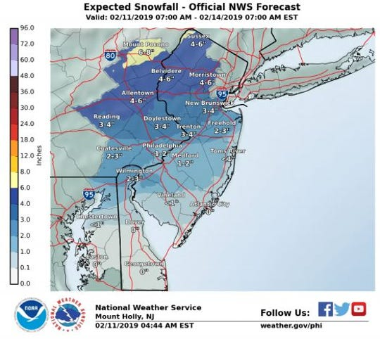 Timing differences of only two to three hours could double or halve predicted snow totals, according to the National Weather Service.