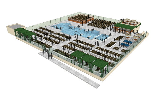 A rendering of the new Adult Only Outdoor Pool that will open in 2020 at Cincinnati Sports Club.